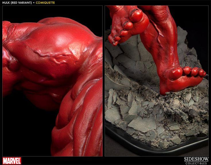 Red Hulk Polystone Statue