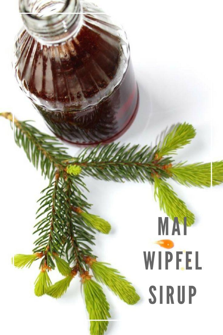 Köstlicher Mai Wipfel Sirup - schmeckt würzig und herrlich aromatisch nach Wald und Frühlingsfrische.