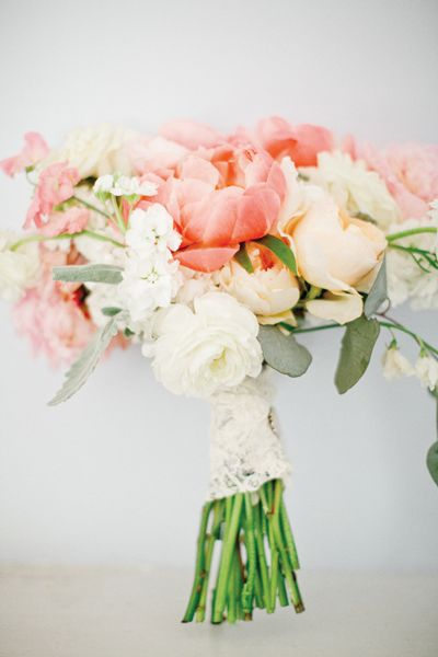 Peach, pink and cream bouquet