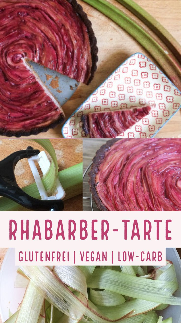 Rhabarber-Tarte | low-carb | glutenfrei | vegan | fructosearm und super lecker