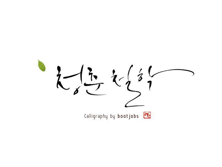 청춘철학 / 캘리그라피