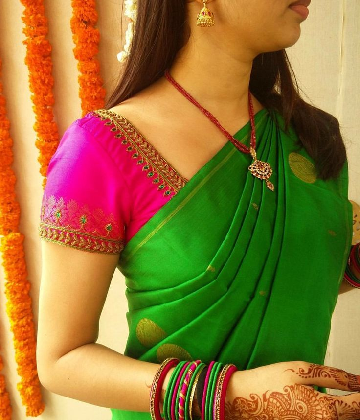 Simple Blouse Designs for Silk Sarees   Fashion2Days