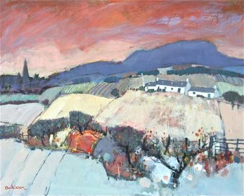 Gamekeepers cottage Perthshire by Charles Anderson available from www.limetreegallery.com