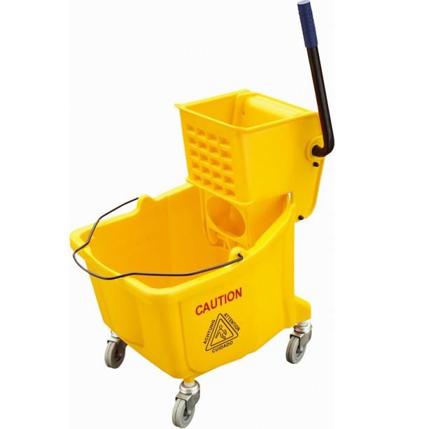 Housekeeping - Hotel Cleaning Supplies - Bucket With Book Wringer.