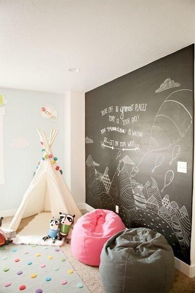 lousa para crianças, parede com lousa, lousa na decoração, lousa infantil, lousas divertidas, giz para crianças
