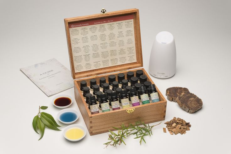 Australia in a Box - The Lot!  All current 35 Australian essential oils in a solid Silky Oak timber box set.