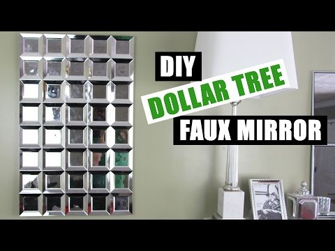 DIY DOLLAR TREE FAUX MIRROR WALL ART | Easy Z Gallerie Inspired Mirror Art | Cheap Mirror Room Decor - YouTube