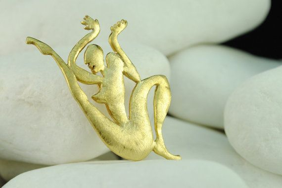Josephine Baker Gold Plated Sterling Silver Brooch and Pendant