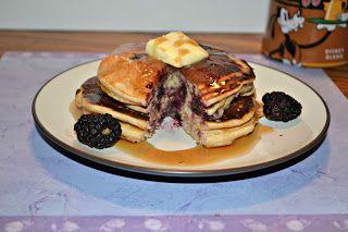 Hezzi-D's Books and Cooks: 9 Grain Blackberry Pancakes