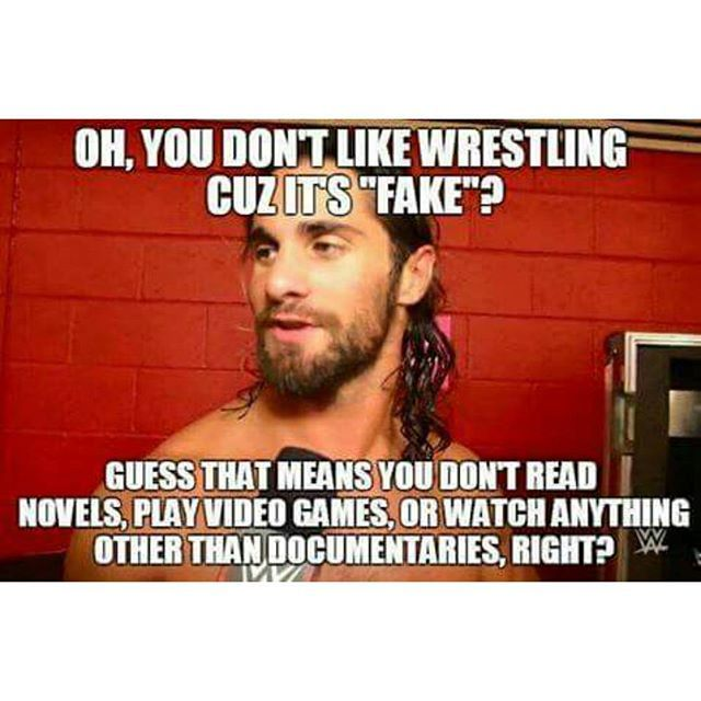 Seth Rollins :P - Whoever wrote this thing is right. Most documentaries are some boring shit anyway xD