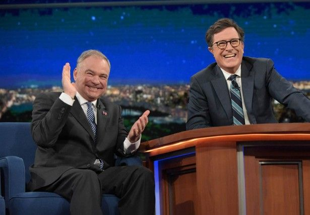 During His Appearance on 'The Late Show With Stephen Colbert,' Tim Kaine…