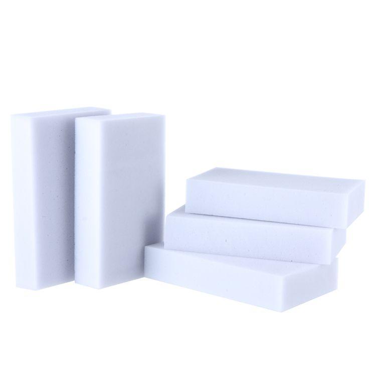 100 stks/partij hoge kwaliteit Grijs Magische spons Melamine Spons 10*6*2 cm Schoonmaak Gum voor Keuken Kantoor badkamer Schoon Nano spons