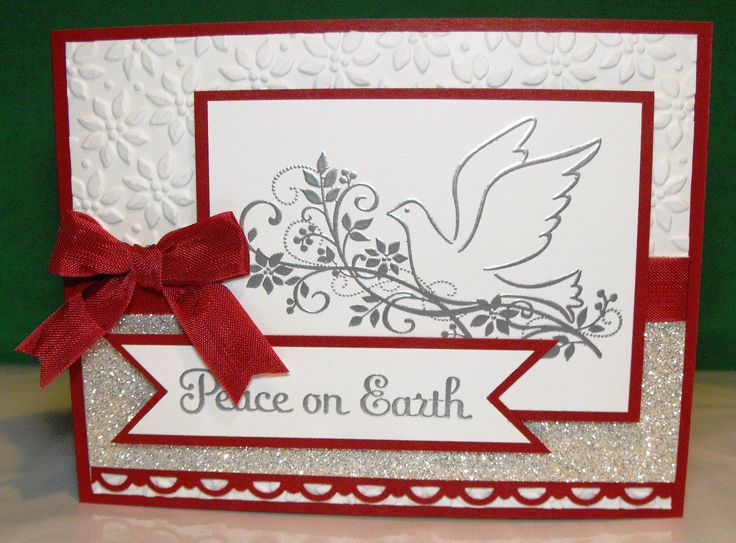 95 best CARDS, CHRISTMAS, DOVES - BIRDS images on Pinterest ...