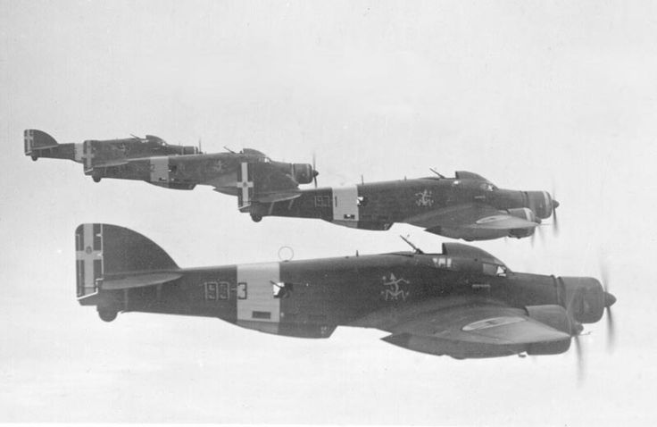 """The Savoia-Marchetti SM.79 Sparviero (Italian for """"Sparrowhawk"""") was a three-engined Italian medium bomber with a wood-and-metal structure. Originally designed as a fast passenger aircraft, this low-wing monoplane, in the years 1937–39, set 26 world records that qualified it for some time as the fastest medium bomber in the world. It first saw action during the Spanish Civil War and flew on all fronts in which Italy was involved during World War II."""