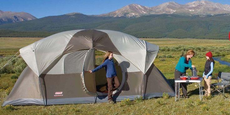 Coleman+WeatherMaster+10+Person+Hinged+Door+Tent+$128.27+{reg.+$299.99}