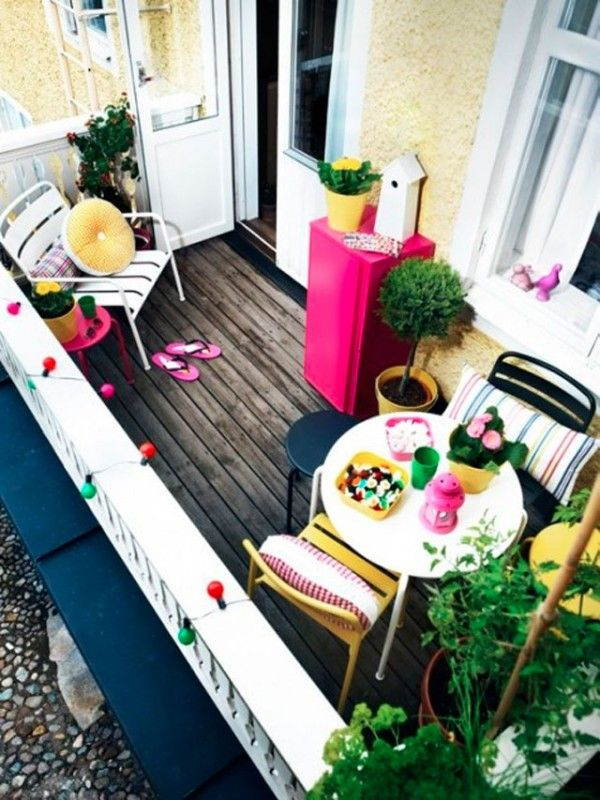 Déco terrasse avec de la couleur