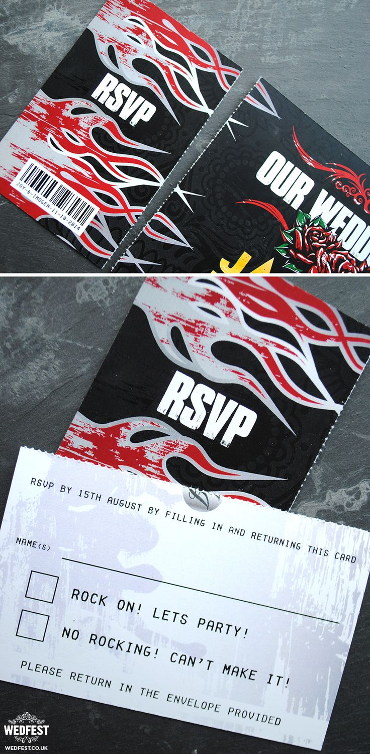 heavy metal wedding invitations http://www.wedfest.co/heavy-metal-wedding/