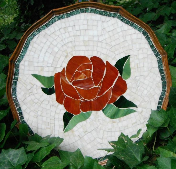 73 best images about mosaic roses on pinterest