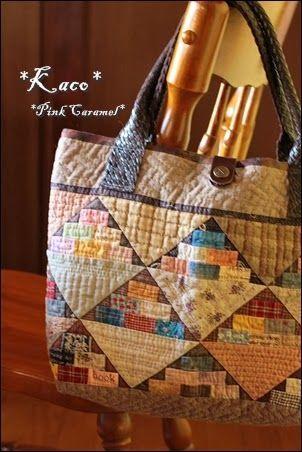 Si sabes un poco de patchwork anímate y te haces este bonito bolso multiusos.