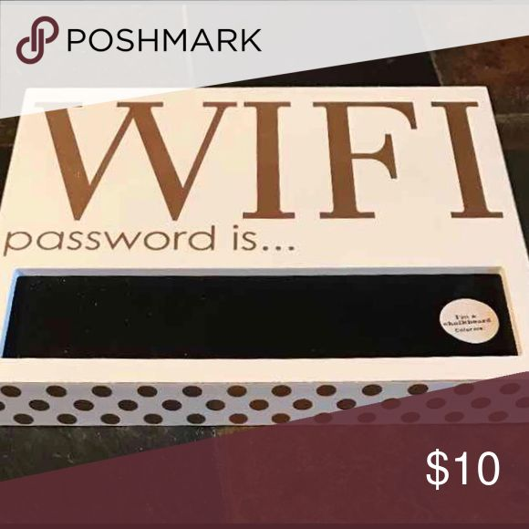 Wall Decor Reveal that hidden WiFi password to guests with this chalkboard wall display. Accessories