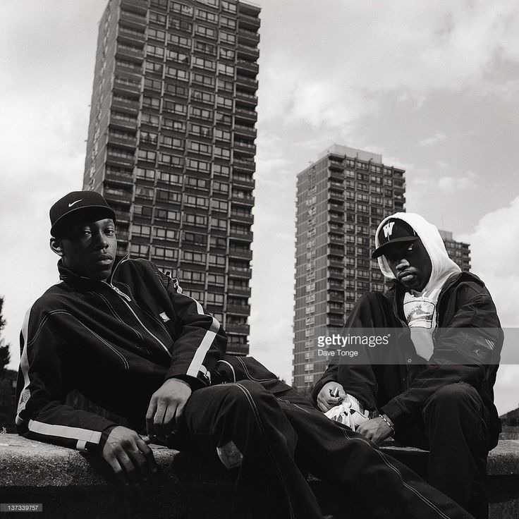 British rappers Dizzee Rascal And Wiley, Bethnal Green, London, August 2002.