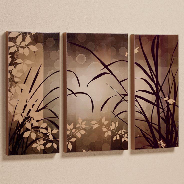 Celebrate Elegance Triptych Canvas Set Brown Set of Three
