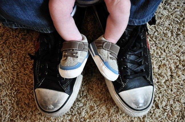 baby + dad feet = adorableness. #father #son