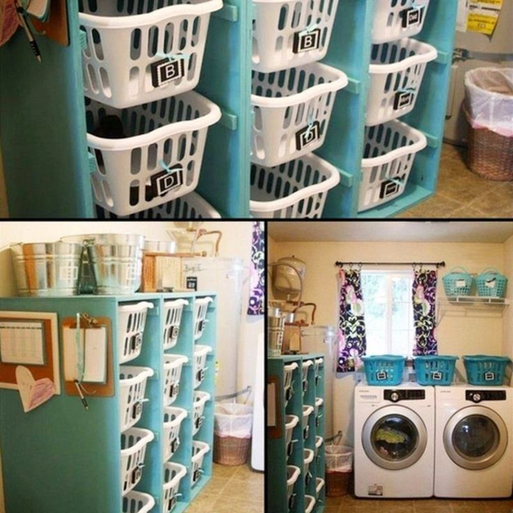 Small House Storage Hacks How To Organize A Small House With No Storage Space Small Laundry Room Organization Laundry Room Baskets Room Storage Diy
