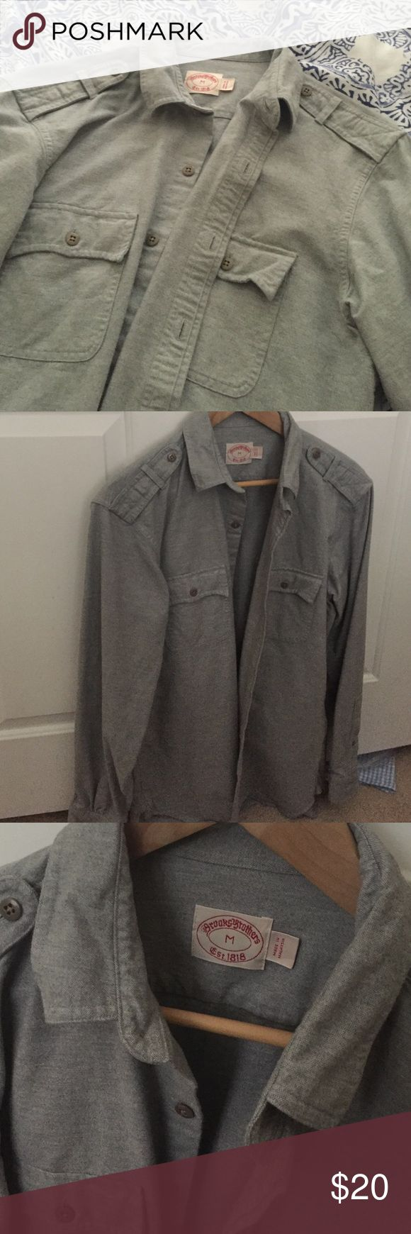 Brooks Brothers heavier winter shirt Grey with buttons. NWOT Brooks Brothers Shirts Casual Button Down Shirts