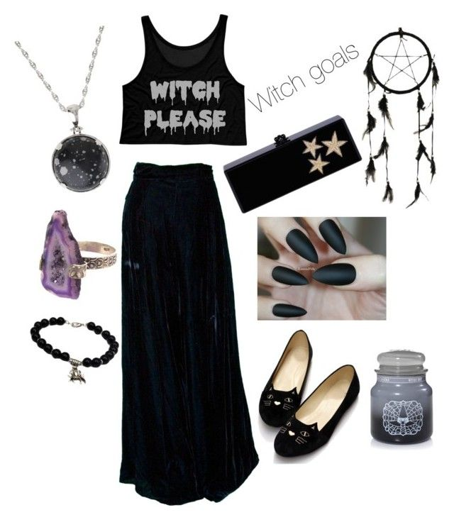 """""""Witch goals"""" by ellen-kate on Polyvore featuring Lele Sadoughi and Edie Parker"""