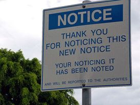 Typical Aussie humor! Notice the notice (Powerhouse New Farm Brisbane) - unique signs in #Australia #travel #signs