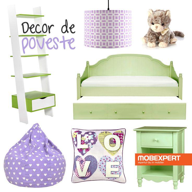Culori pastelate și decorațiuni vesele pentru camera micuților. #moodboard #decoideea