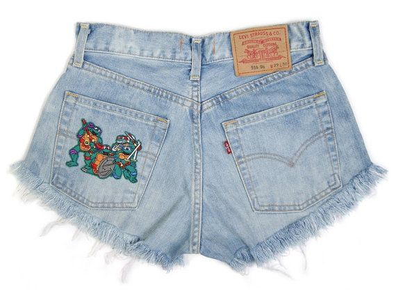 Patched shorts denim Teenage Mutant Ninja Turtles by DSMjeans
