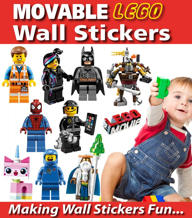 Lego Wall Stickers - TOTALLY MOVABLE, $9.95 (http://www.wholesaleprinters.com.au/lego-wall-stickers-totally-movable/)