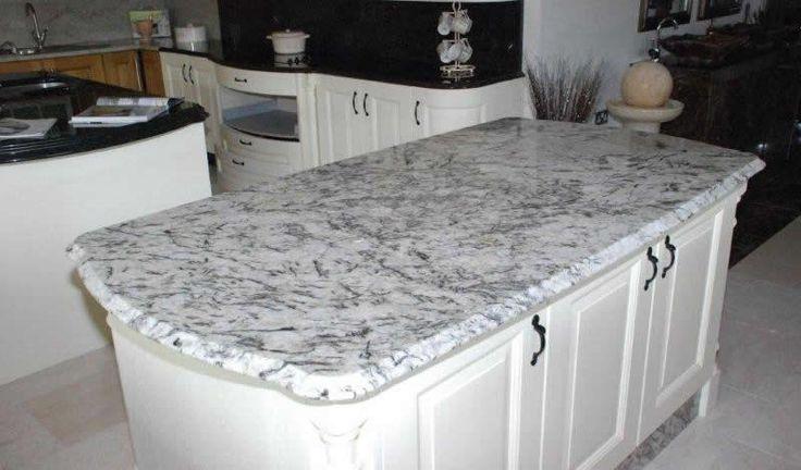 Ice blue granite small full bath ideas pinterest for Blue countertop kitchen ideas