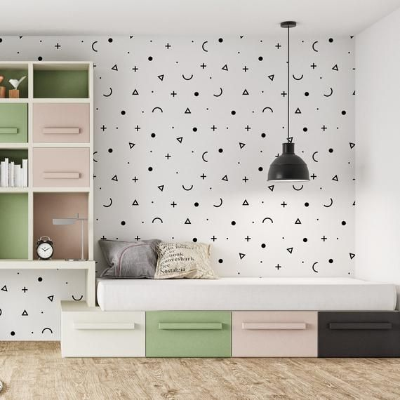 Minimal Abstract Removable Peel Stick Wallpaper Etsy In 2020 Peel And Stick Wallpaper Beautiful Stickers More Wallpaper