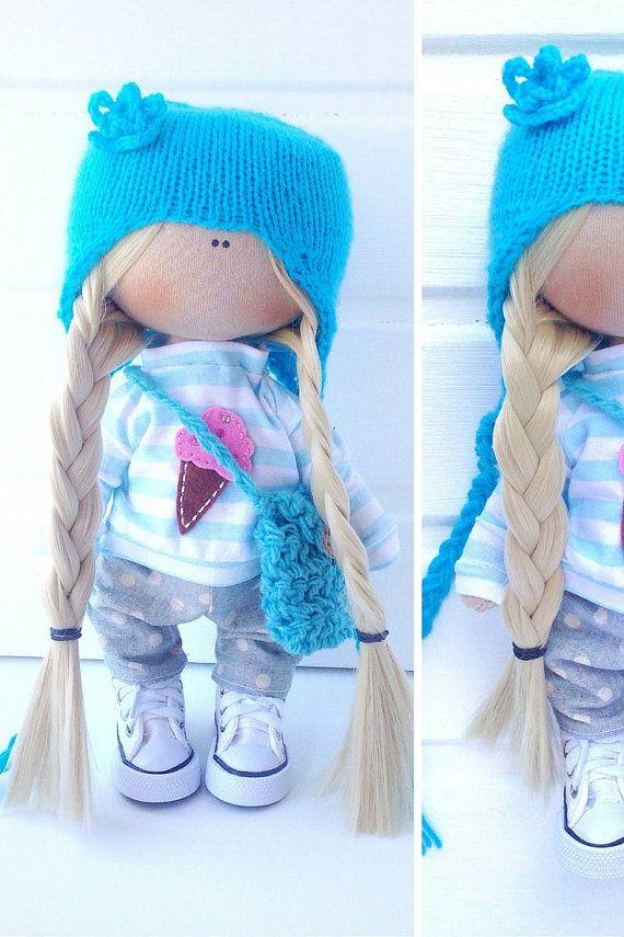 Fabric doll toy Tilda doll Interior doll Art by AnnKirillartPlace
