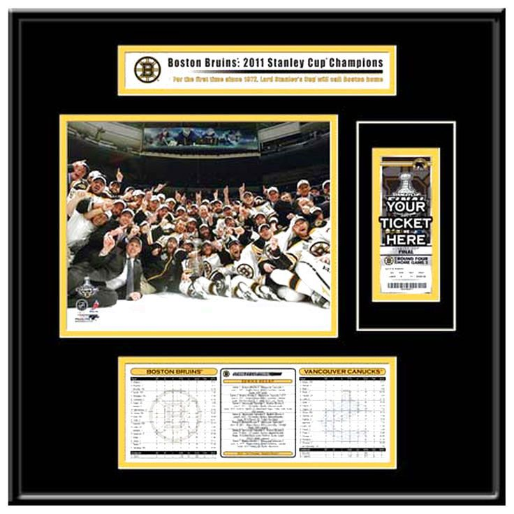 Boston Bruins 2011 NHL Stanley Cup Finals That's My Ticket Frame Jr. - $95.99