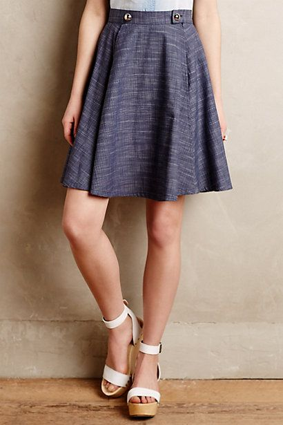 Anthro Denim Sailor Skirt. I love this! Too expensive, but I love it so much!