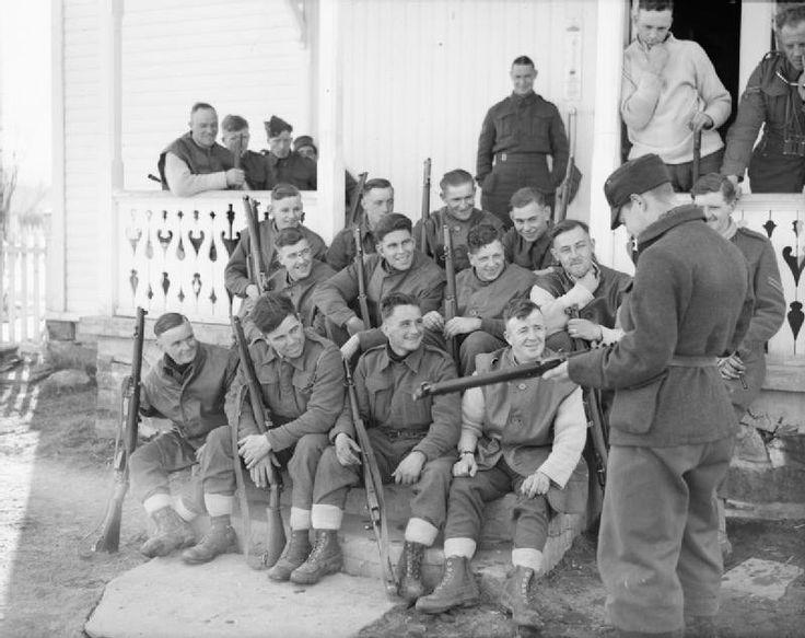 Abril 1940 Soldados Brit 225 Nicos Del 4to Regimiento