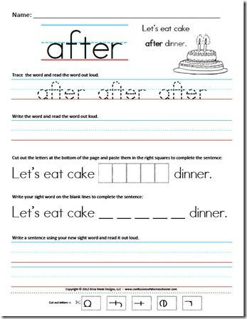 Printables Free Printable Writing Worksheets For 1st Grade 1000 ideas about sight word worksheets on pinterest grade 1 1st sentence from confessions of a homeschooler blog