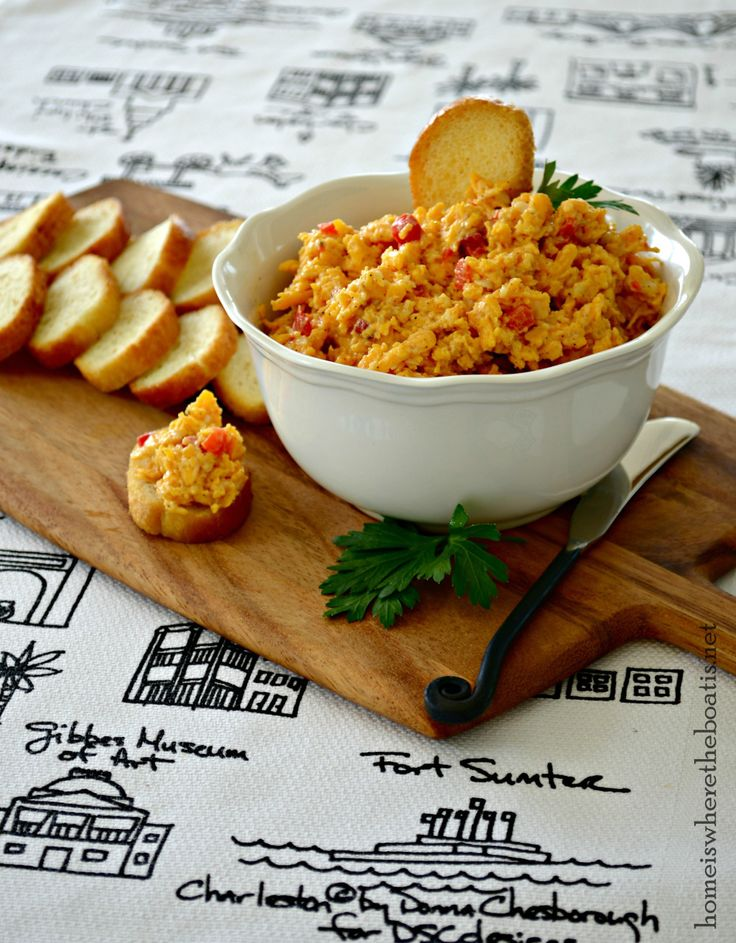 Pimento Cheese recipe from Hominy Grill in Charleston, SC, among five top pimento cheese spreads from eateries across the South in Southern Living Magazine.