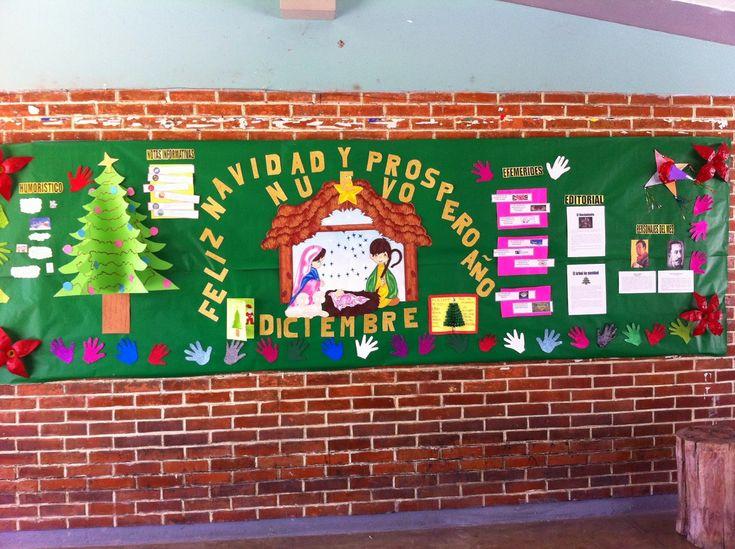 M s de 20 ideas fant sticas sobre periodico mural enero en - Murales decorativos de navidad ...