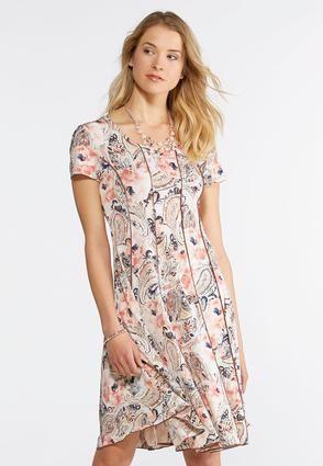 cato fashions plus size floral paisley corset dress