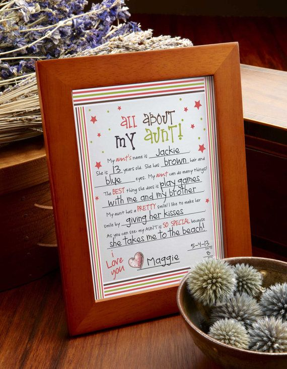 """MY AUNT... DIY Printable 8"""" x 10"""" Letter for """"My Aunt"""" Birthday Gift or Mother's Day Gift - Print for my aunt"""