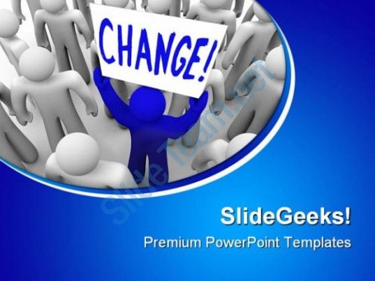 Change Metaphor PowerPoint Templates And PowerPoint Backgrounds 0511  Presentation Themes and Graphics Slide01