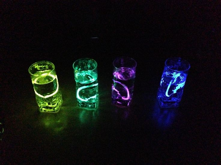 Put glow sticks in water. Makes a cool color. Also would be nice in mason jars. Great for bonfires and night parties!