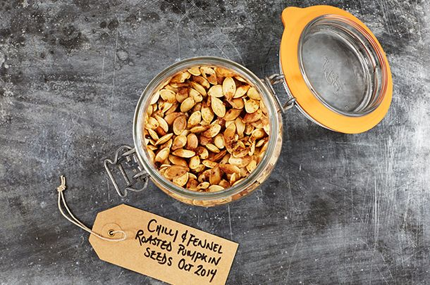 Check out our guide on how to roast pumpkin seeds before disembowelling your Jack o' Lantern this week and you'll never discard those amazing insides again.
