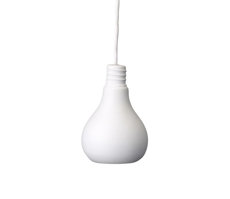 Voorbeeld van Hanglamp Peer wit keramiek
