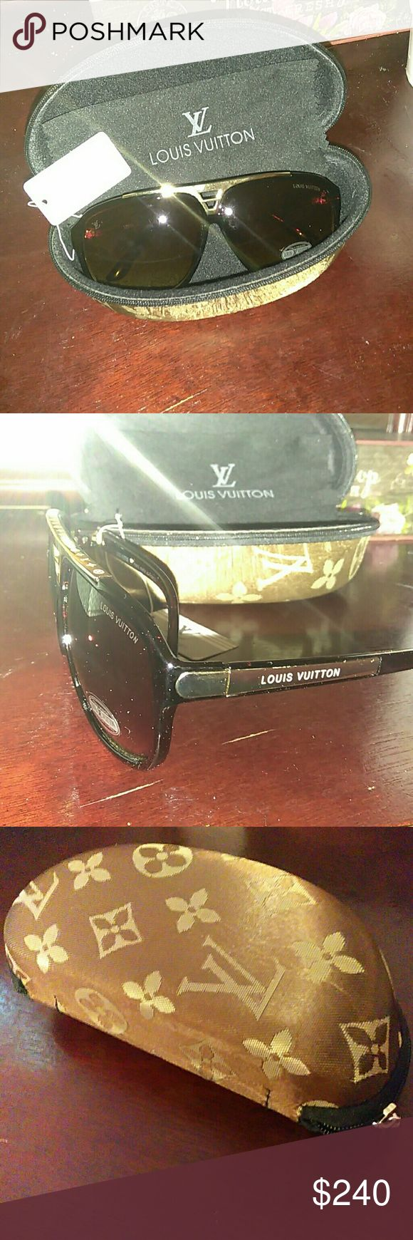 Louis Vuitton Evidence Sunglasses design Ship same day 🚛 ❗ Excellent condition ❗ NWT, Comes w/ case and cleaning cloth❗ NO TRADES, NO EMAILS ❗ ONLY VIA POSHMARK ❗ Louis Vuitton Accessories Sunglasses